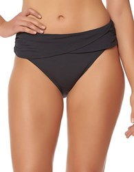 Bleu By Rod Beattie Sarong Hipster Bikini Bottom Black