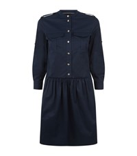 Burberry Tammy Pocket Shirt Dress Female Dark Blue
