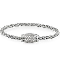 Thomas Sabo Rebel At Heart Sterling Silver And Zirconia Pave Bracelet