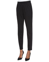 Lafayette 148 New York Side Stripe Track Pants Black