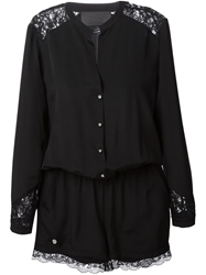 Philipp Plein Lace Panel Playsuit