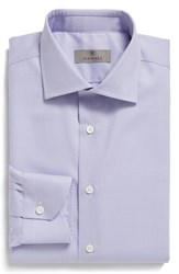Canali Men's Big And Tall Regular Fit Solid Dress Shirt Lavender