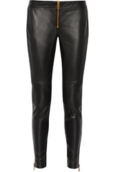 Versus Leather Skinny Pants Black