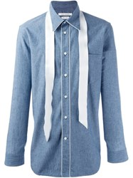 Marc Jacobs Stripe Applique Shirt Blue