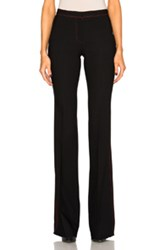 Burberry Prorsum Luggage Stitch Bootcut Trousers In Black