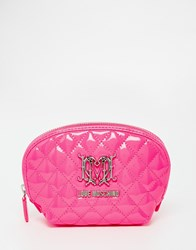 Love Moschino Quilted Cosmetic Case Pink