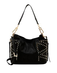 Steve Madden Embellished Faux Leather Shoulder Bag Black Gold