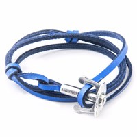 Anchor And Crew Royal Blue Union Leather Bracelet