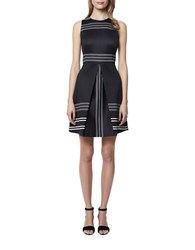 Erin Fetherston Claremont Fit And Flare Dress Black Ivory