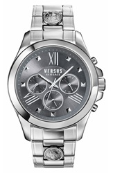 Versus By Versace Chronograph Bracelet Watch 44Mm Silver Black