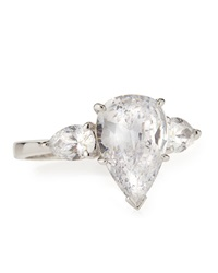 Fantasia Cz Pear Cut Ring With Side Stones 6