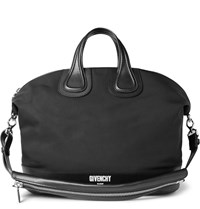 Givenchy Leather Trimmed Canvas Holdall Black