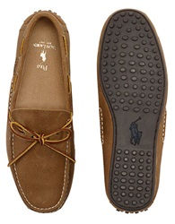 Polo Ralph Lauren Wydnings Leather Moccasins Tan