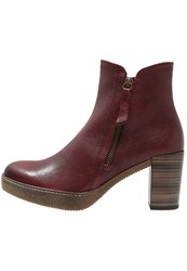 Gabor Platform Boots Dark Red Bordeaux