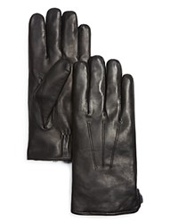 The Men's Store At Bloomingdale's Three Cord Gloves With Rabbit Fur Lining Black W An