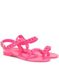 Givenchy Jelly Flat Sandals Pink