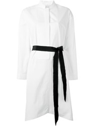 Maison Rabih Kayrouz Belted Shirt Dress White