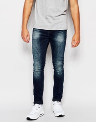 Superdry Dusted Blue Jeans In Super Skinny Fit Dustedblue