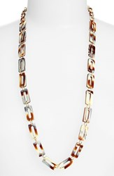 Women's L. Erickson 'Mimi' Link Necklace Natural Horn