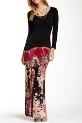 Go Couture Long Sleeve Tie Dye Maxi Dress Multi