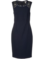 Rebecca Taylor Classic Fitted Dress Blue