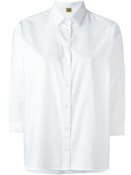 Fay Classic Cropped Shirt White