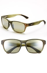 Men's Maui Jim 'Mixed Plate Polarizedplus2' 58Mm Sunglasses Matte Green Stripe Maui Ht