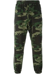 Stussy Camouflage Print Track Pants Green