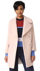 Whistles Penny Double Coat Pink