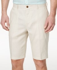 Inc International Concepts Smith Linen Blend Shorts Stone Block
