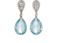 Mcteigue And Mcclelland Women's Bella Verso Double Drop Earrings Light Blue