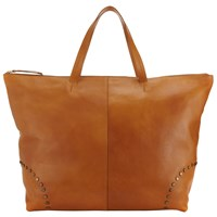 John Lewis Collection Weekend By Leather Stud Tote Bag Tan