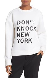 Dkny Women's 'Runway' Graphic Print Sweatshirt Chalk