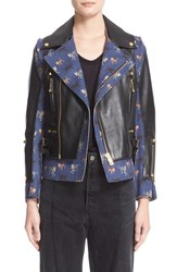 Undercover Women's Leather And Wool Moto Jacket