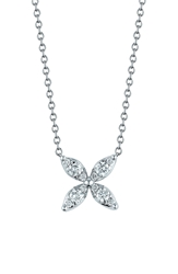 Kwiat 'Sunburst' Diamond Pendant Necklace White Gold