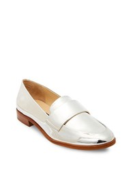Steve Madden Quintus Slip On Leather Loafers Silver