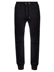 Balmain Biker Cotton Track Pants Navy