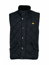 Raging Bull Big And Tall Casual Lightweight Quilted Zip Gilet Navy