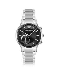Emporio Armani Renato Connected Satin Stainless Steel Hibrid Men's Smartwatch Silver