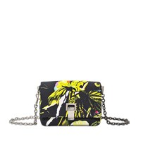 Proenza Schouler Extra Small Courier Floral Print On Satin Crepe