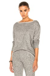 Atm Anthony Thomas Melillo Extended Shoulder Sweatshirt In Gray