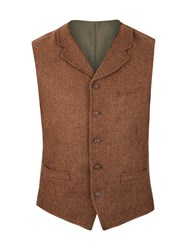 Gibson Tyburn Vest With Collar Brown