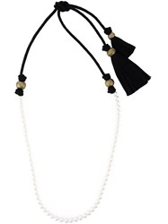 Lanvin Pearl And Tassel Necklace White