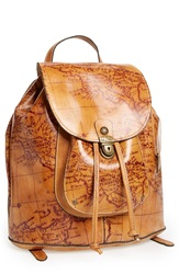 Patricia Nash 'Casape' Leather Backpack Rust