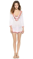 Milly Zigzag Mirrored Paillettes Cover Up Fluo Pink