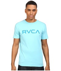Rvca Big Vintage Wash Tee Maui Blue Men's T Shirt