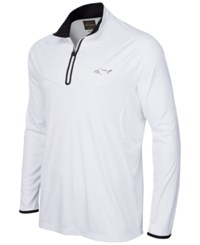 Greg Norman For Tasso Elba Embossed Quarter Zip Shirt Only At Macy's Bright White