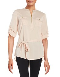 Calvin Klein Zip Placket Tunic Blush
