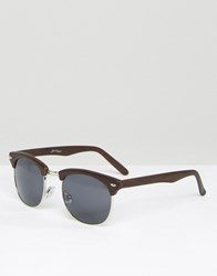 Jeepers Peepers Retro Sunglasses Brown