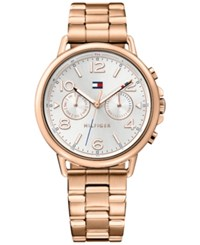 Tommy Hilfiger Women's Casual Sport Rose Gold Tone Stainless Steel Bracelet Watch 38Mm 1781733